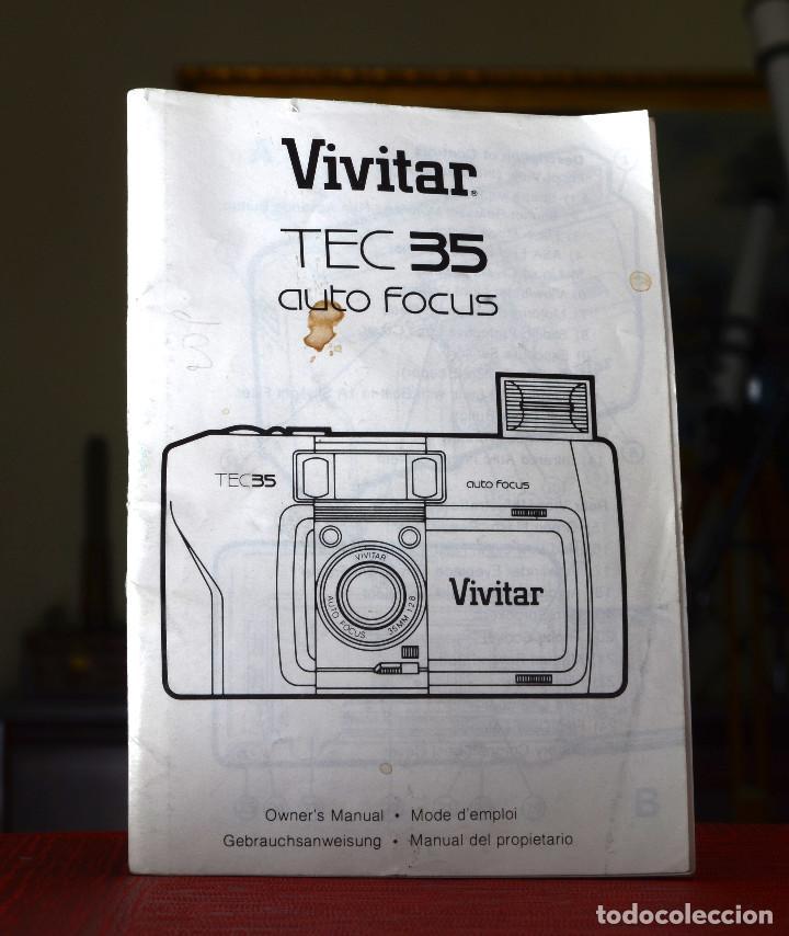 MANUAL ORIGINAL CÁMARA VIVITAR TEC 35 AUTOFOCUS (Cámaras Fotográficas - Catálogos, Manuales y Publicidad)