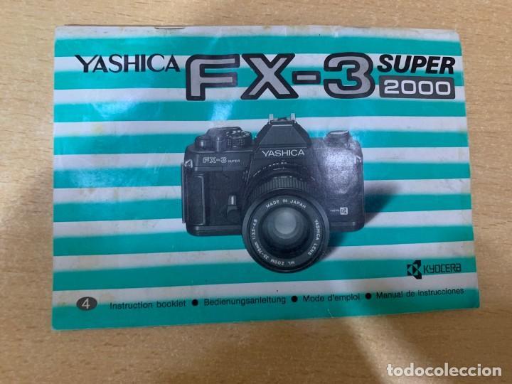 MANUAL DE INSTRUCCIONES YASHICA FX- 3 SUPER 2000 (Cámaras Fotográficas - Catálogos, Manuales y Publicidad)