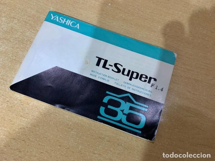 MANUAL DE INSTRUCCIONES YASHICA TL SUPER (Cámaras Fotográficas - Catálogos, Manuales y Publicidad)