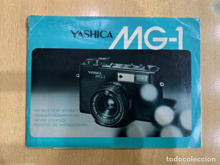 MANUAL DE INSTRUCCIONES YASHICA MG 1 (Cámaras Fotográficas - Catálogos, Manuales y Publicidad)