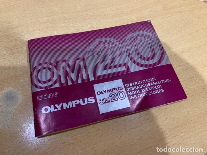 MANUAL DE INSTRUCCIONES OLYMPUS OM 20 (Cámaras Fotográficas - Catálogos, Manuales y Publicidad)