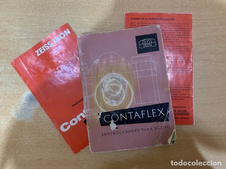 MANUAL DE INSTRUCCIONES CONTAFLEX (Cámaras Fotográficas - Catálogos, Manuales y Publicidad)