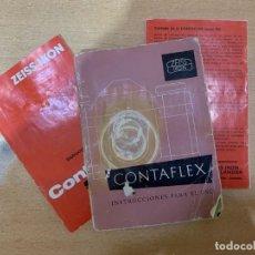 Cámara de fotos: MANUAL DE INSTRUCCIONES CONTAFLEX. Lote 197610938