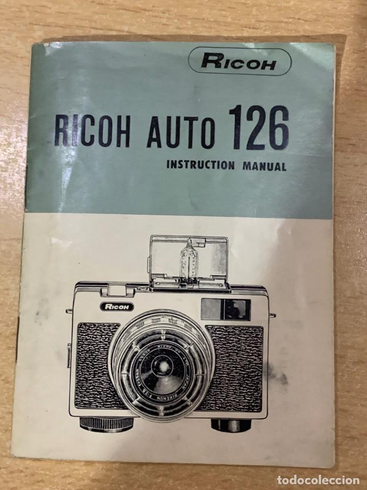 MANUAL DE INSTRUCCIONES RICOH AUTO 126 (Cámaras Fotográficas - Catálogos, Manuales y Publicidad)