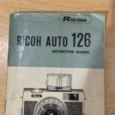 Cámara de fotos: MANUAL DE INSTRUCCIONES RICOH AUTO 126. Lote 197611730