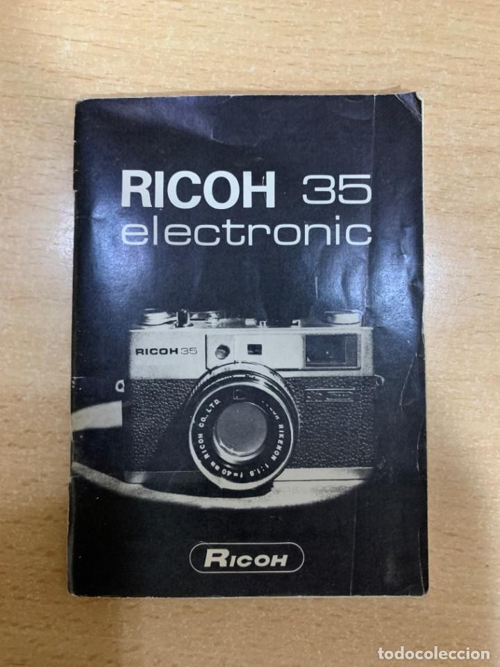 MANUAL DE INSTRUCCIONES RICOH 35 ELECTRONIC (Cámaras Fotográficas - Catálogos, Manuales y Publicidad)