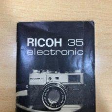 Cámara de fotos: MANUAL DE INSTRUCCIONES RICOH 35 ELECTRONIC. Lote 197611976