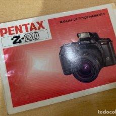 Cámara de fotos: MANUAL DE INSTRUCCIONES PENTAX Z 20. Lote 197612293