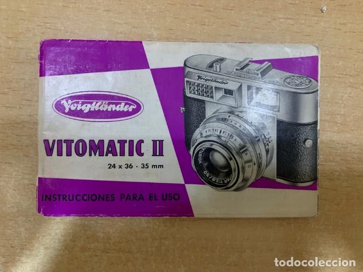 MANUAL DE INSTRUCCIONES VOIGTLANDER VITOMATIC II (Cámaras Fotográficas - Catálogos, Manuales y Publicidad)