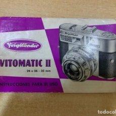 Cámara de fotos: MANUAL DE INSTRUCCIONES VOIGTLANDER VITOMATIC II. Lote 197613246