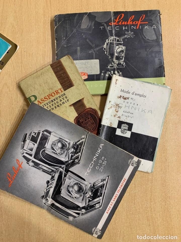 MANUAL FOLLETOS INSTRUCCIONES LINHOF (Cámaras Fotográficas - Catálogos, Manuales y Publicidad)