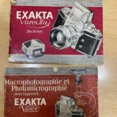 Cámara de fotos: MANUALES INSTRUCCIONES EXAKTA VARES. Lote 197614030