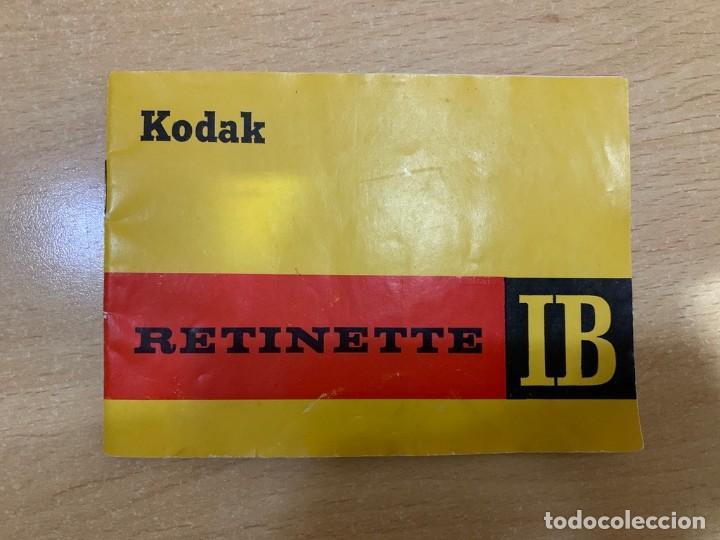 MANUAL DE INSTRUCCIONES KODAK RETINETTE IB (Cámaras Fotográficas - Catálogos, Manuales y Publicidad)