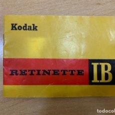 Cámara de fotos: MANUAL DE INSTRUCCIONES KODAK RETINETTE IB. Lote 197618795