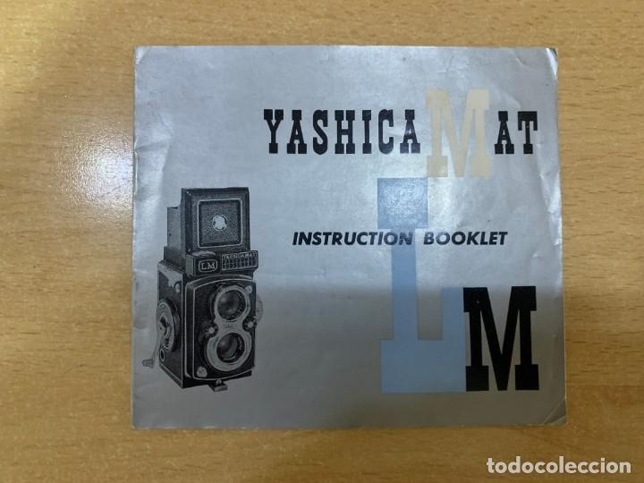 MANUAL DE INSTRUCCIONES YASHICA MAT LM (Cámaras Fotográficas - Catálogos, Manuales y Publicidad)