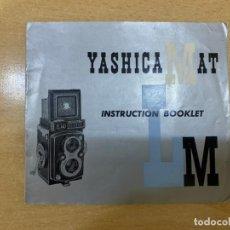 Cámara de fotos: MANUAL DE INSTRUCCIONES YASHICA MAT LM. Lote 197620470