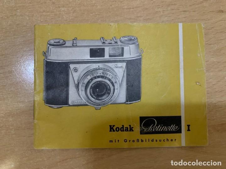MANUAL DE INSTRUCCIONES KODAK RETINETTE I (Cámaras Fotográficas - Catálogos, Manuales y Publicidad)