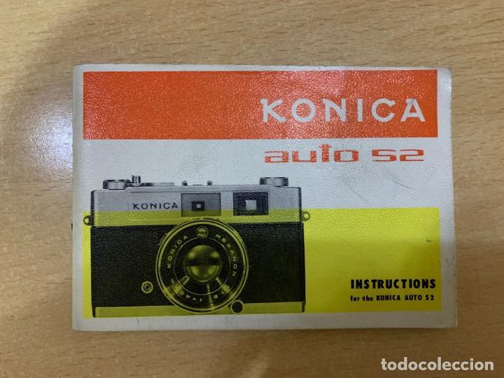 MANUAL DE INSTRUCCIONES KONICA AUTO S2 (Cámaras Fotográficas - Catálogos, Manuales y Publicidad)