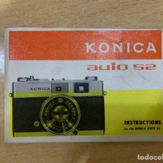 Cámara de fotos: MANUAL DE INSTRUCCIONES KONICA AUTO S2. Lote 197621181