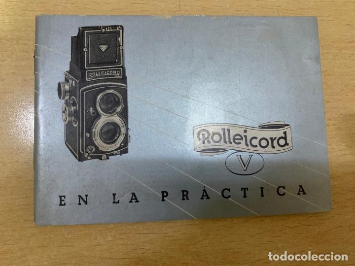MANUAL DE INSTRUCCIONES ROLLEICORD V (Cámaras Fotográficas - Catálogos, Manuales y Publicidad)
