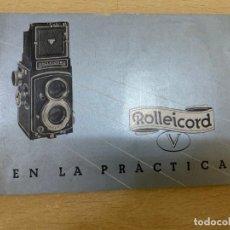 Cámara de fotos: MANUAL DE INSTRUCCIONES ROLLEICORD V. Lote 197621388