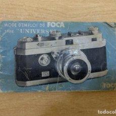 Fotocamere: MANUAL DE INSTRUCCIONES FOCA. Lote 197621707