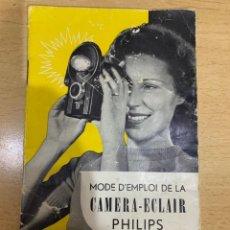 Cámara de fotos: MANUAL DE INSTRUCCIONES CAMERA ECLAIR. Lote 197628851