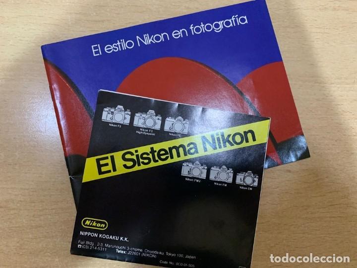 FOLLETOS NIKON (Cámaras Fotográficas - Catálogos, Manuales y Publicidad)