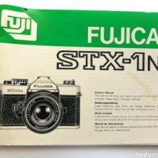 Cámara de fotos: FUJICA STX-1N, MANUAL INSTRUCCIONES. 94PAGS. ENGL.-GERM.-FREN.-CAST.. Lote 197830038