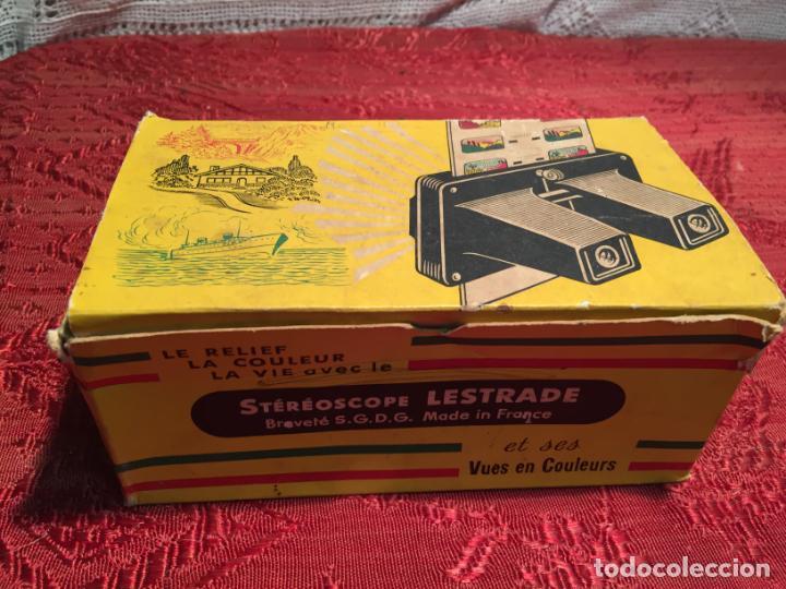 Cámara de fotos: Antiguo Stereoscope Lestrade en caja original con vistas años 70 - Foto 9 - 198370807