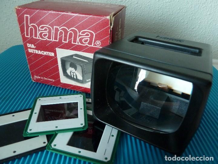 VISIONADORA DE DIAPOSITIVAS-HAMA·3642-MADE IN GERMANY (Cámaras Fotográficas - Visores Estereoscópicos)
