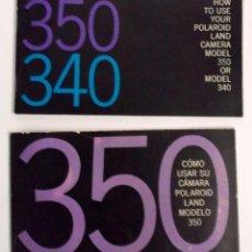 Cámara de fotos: DOS MANUALES DE LAS CÁMARAS POLAROID 340 Y 350. Lote 198740950