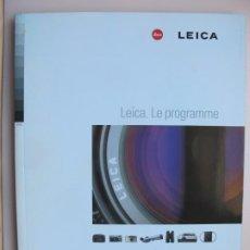 Cámara de fotos: EL PROGRAMA DE PRODUCTOS ÓPTICOS LEICA.-- DATOS TÉCNICOS ( EN FRANCÉS ). Lote 198782866