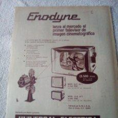 Cámara de fotos: RECORTE PERIÓDICO PUBLICIDAD TV AÑOS 60. Lote 198841762