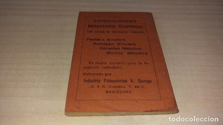 Cámara de fotos: Manual del minutero, Garriga, Barcelona 1926 - Foto 2 - 199931478