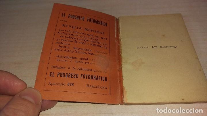 Cámara de fotos: Manual del minutero, Garriga, Barcelona 1926 - Foto 3 - 199931478
