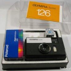 Cámara de fotos: CAMARA OLYMPIA LUXUS 126 . CARRETE 126 . CARRETE POLAROID 126. Lote 200894642
