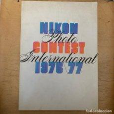 Cámara de fotos: NIKON FOTO INTERNACIONAL 1976/77. Lote 201199555