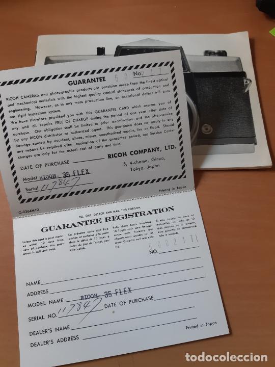 Cámara de fotos: INSTRUCCIONES Y GARANTÍA DE MÁQUINA FOTOGRÁFICA RICOH 35 FLEX. - Foto 3 - 202866847