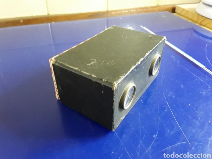 Cámara de fotos: Visor Estereoscopico antiguo de carton con 9 cristales de londres - Foto 3 - 202948141