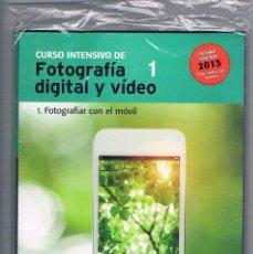 Cámara de fotos: CURSO INTENSIVO DE FOTOGRAFIA DIGITAL Y VIDEO 1 FOTOGRAFIAR CON EL MOVIL EL MUNDO 2013. Lote 203086585