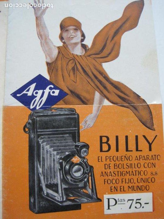 CAMARA AGFA BILLY-CATALOGO PUBLICIDAD DE FOTOGRAFIA-VER FOTOS-(V-19.994) (Cámaras Fotográficas - Catálogos, Manuales y Publicidad)