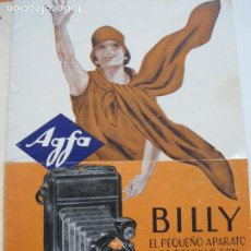 Cámara de fotos: CAMARA AGFA BILLY-CATALOGO PUBLICIDAD DE FOTOGRAFIA-VER FOTOS-(V-19.994). Lote 204093335