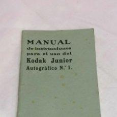 Cámara de fotos: KODAK INSTRUCCIONES AÑOS 40, USO DE CÁMARA Y REVELADO. Lote 204138122
