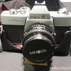 Cámara de fotos: ESTUCHE FOTOGRÁFICO CON CÁMARA MINOLTA SRT 100 X. DOS OBJETIVOS ADICIONALES DE 24 Y 52 MM. FLASH. Lote 204369881