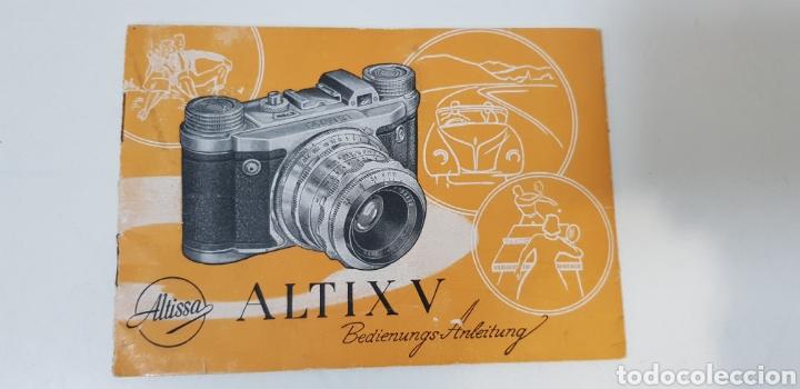 ALTISSA ALTIX V - MANUAL INSTRUCCIONES (Cámaras Fotográficas - Catálogos, Manuales y Publicidad)