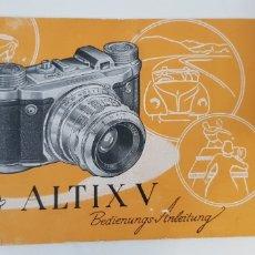 Cámara de fotos: ALTISSA ALTIX V - MANUAL INSTRUCCIONES. Lote 205064118