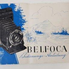 Cámara de fotos: BELCA BELFOCA - MANUAL DE INSTRUCCIONES. Lote 205064210