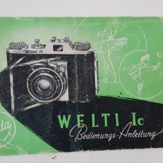 Cámara de fotos: WELTA WELTI IC - MANUAL INSTRUCCIONES. Lote 205064303
