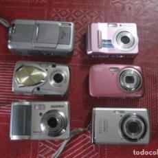 Cámara de fotos: LOTE DE 6 CÁMARAS DIGITALES. Lote 205315300